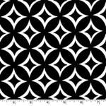 Tweedle Dee White Geometric Black Fabric