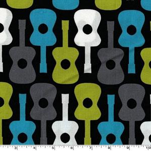 Groovy Guitar Lagoon Fabric