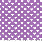 Hearts all Over in Purple Fabric