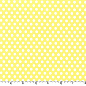 Kiss Dot Yellow Fabric