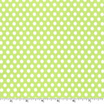 Kiss Dot Lime Green Fabric