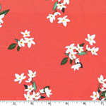 Lily of the Valley Coral Fabric
