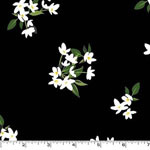 Lily of the Valley Onyx Black Fabric