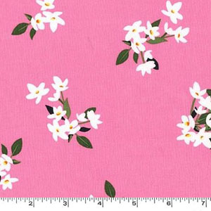Lily of the Valley Rose Pink Fabric