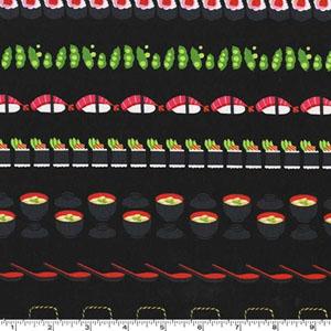 Conveyor Sushi Lacquer Black Fabric