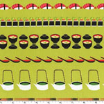 Conveyor Sushi Wasabi Green Fabric