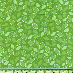 Branching Out Leaf Green Fabric