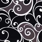 Surf Swirl Black White Mudd Gray Brown Fabric