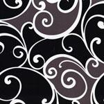 Surf Swirl Black White Mudd Gray Brown Fabric