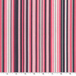 Play Stripe Pink Gray Fabric