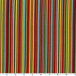 Play Stripe Multi Colored Red Fabric