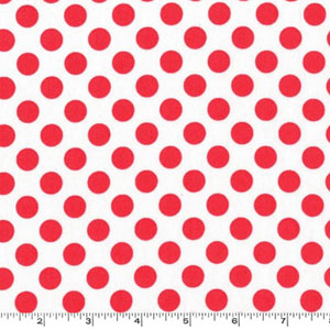 Ta Dot Lipstick Orange-Red Dot White Fabric
