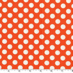 Ta Dot Tangerine Orange White Fabric