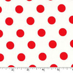 That's It Cherry Red Dots White Fabric