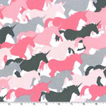 Unicorn Herd Pink Girl Fabric