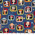 When I Grow Up Retro Kids TV Fabric