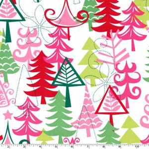 Yule Trees Santa Fabric