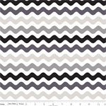 Wave Cotton Gray Black Fabric