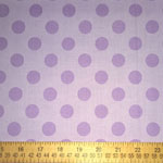 Medium Dots Lavender Fabric