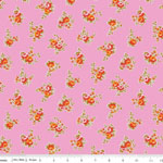 Milk, Sugar & Flower Rose Cotton Pink Fabric