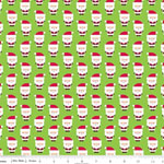 Santa Express Cotton Santa Green Fabric