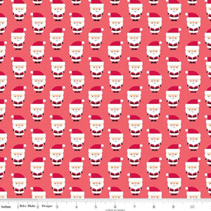 Santa Express Cotton Santa Red Fabric