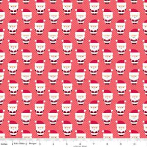 Santa Express Cotton Santa Red Fabric