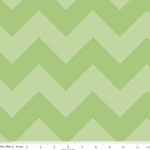 Chevrons Large Tone on Tone Green Fabric