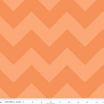 Chevrons Large Tone on Tone Orange Fabric