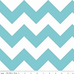 Chevrons Large Aqua Fabric