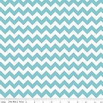 Chevrons Small Aqua Fabric