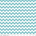 Chevrons Small Aqua Fabric