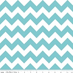 Chevrons Medium Aqua Fabric