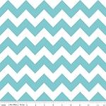 Chevrons Medium Aqua Fabric