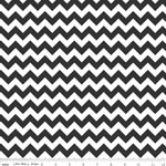 Chevrons Small Black Fabric