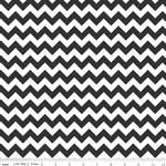 Chevrons Small Black Fabric