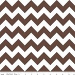 Chevrons Medium Brown Fabric