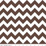 Chevrons Medium Brown Fabric