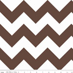 Chevrons Large Brown Fabric