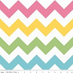 Chevrons Large Girl Pastel Fabric