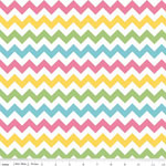 Chevrons Small Girl Pastel  Fabric