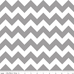Chevrons Medium Gray Fabric