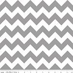 Chevrons Medium Gray Fabric