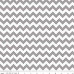 Chevrons Small Gray Fabric