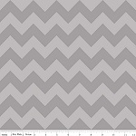 Chevrons Medium Gray Tone Fabric