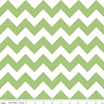 Chevrons Medium Green Fabric