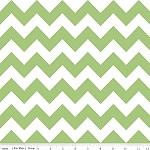 Chevrons Medium Green Fabric