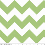 Chevrons Large Green Fabric