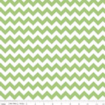 Chevrons Small Green Fabric