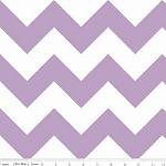 Chevrons Large Lavender Fabric